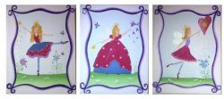 Artwork Childrens Room Decor - Fairy Dust Set Kids Wall Art Canvas (Set of 3)