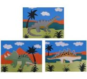 Atrwork Childrens Room Decor - Dinosaur Set Kids Wall Art Canvas (Set of 3)