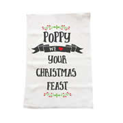 Personalised Christmas Tea Towel - Christmas Feast
