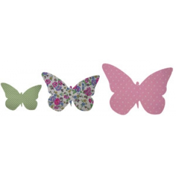 Wall Motifs - Animal Art Set 16<br>Butterflies<br>Fabric Covered