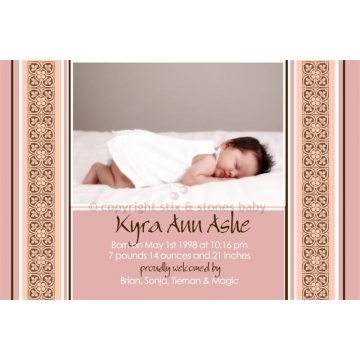 Birth Announcement <BR>'Musk Pink'