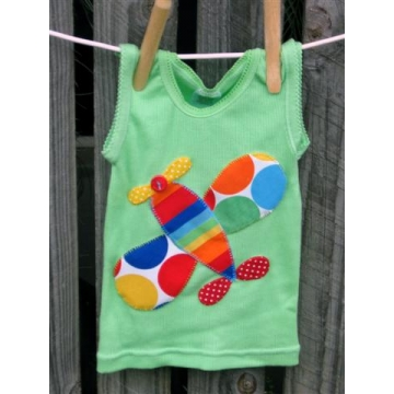 Plane Applique T shirt<br>sizes 000 - 6