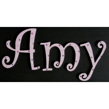 Alphabet Letters Handpainted<br>Choose your font & size<br>Pink Daisies