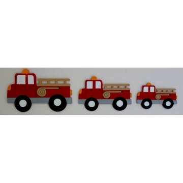Wall Motif Set - Fire Trucks<br>Painted