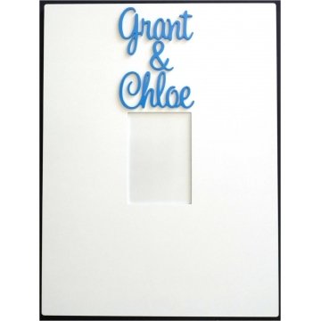 Personalised Picture / Photo Frames<br>Couples Frame<br><font size=&nbsp;-7&nbsp;>(shown here with bermuda blue lettering)</font>