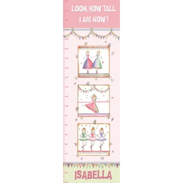 Personalised Canvas <br>Growth Chart - Ballet