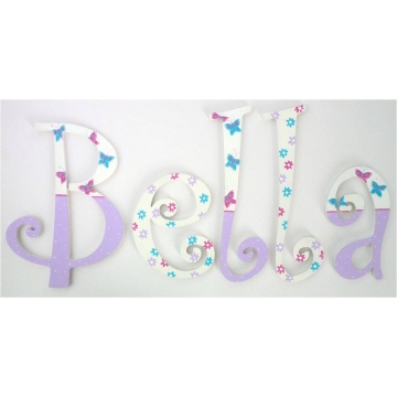Alphabet Letters Handpainted<br>Choose your font & size<br>Buttefly Lilac