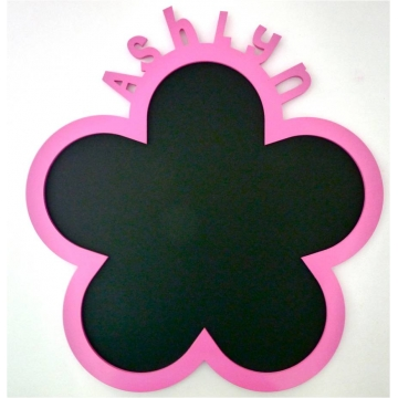Chalkboard - Personalised<br>FLOWER DESIGN<font size=&nbsp;-3&nbsp; face=&nbsp;Times&nbsp;><br>choose from over 20 colours<br>Available in 2 sizes</font>