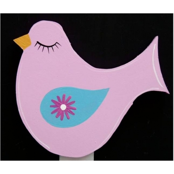 Clip-a-licious Hair Clip Holder<br>Bird Pink & Blue