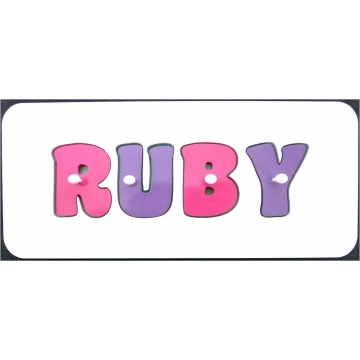 .Personalised Wooden Jigsaw Name Puzzle<br>CHOOSE YOUR OWN COLOURS