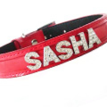 Pet Collar - Red Bling (Personalised)<br>Small or Medium
