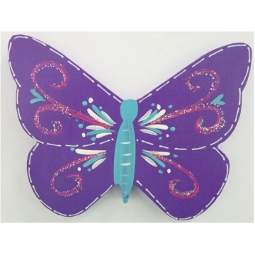 Clip-a-licious Hair Clip Holder<br>Butterfly Swirly Dark Purple