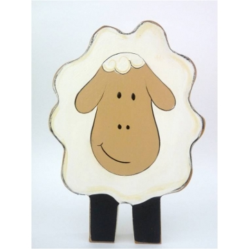 Wooden Block Freestanding <br><b>sheep</b>