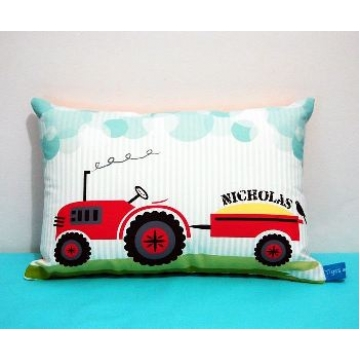 Mini Cushion<br>'Tractor' Design<br><font size=&nbsp;-3&nbsp; face=&nbsp;Times&nbsp;>Personalised or Non-Personalised</font>