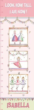 Personalised Canvas Growth Chart - Ballet