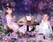 Kids and Baby Fantasy Photo Illustration 'Fairy Tea Party'