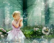 Kids and Baby Fantasy Photo Illustration 'Dandelion Forest'