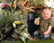 Kids and Baby Fantasy Photo Illustration 'In the Jungle'