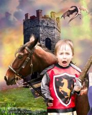 Kids and Baby Fantasy Photo Illustration 'Brave Knight'