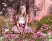 Kids and Baby Fantasy Photo Illustration 'Among the Poppies'