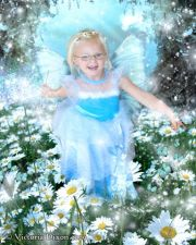 Kids and Baby Fantasy Photo Illustration 'Aqua Daisy'
