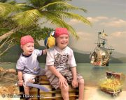 Kids and Baby Fantasy Photo Illustration 'Pirates'