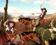 Kids and Baby Fantasy Photo Illustration 'Cowgirls and Boys'