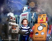 Kids and Baby Fantasy Photo Illustration 'My Robot Friends'