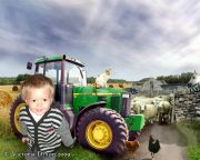 Kids and Baby Fantasy Photo Illustration 'On the Farm'