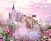 Kids and Baby Fantasy Photo Illustration 'Princesses for a Day'