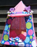 Kids Mini Play Tent Teepee - Pink and Blue Ball Design