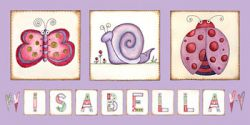 Canvas Name - Happy Bugs Avail. in 20 different colours