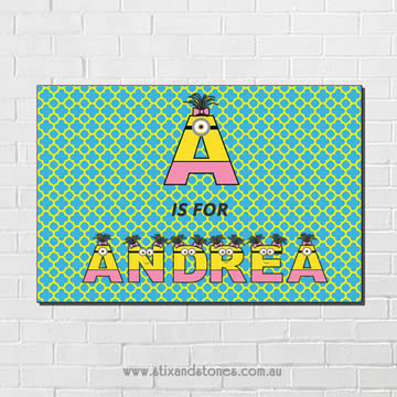 Stix and Stones Baby - Minions Personalised name plaque canvas for ...