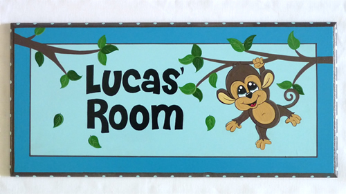 Personalised Name Plaque for kids wall or door Monkey  sc 1 st  Stix and Stones Baby & Stix and Stones Baby - Personalised Name Plaque for kids wall or ... pezcame.com