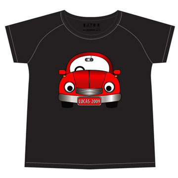 ad966becbe5 Stix and Stones Baby - Personalised clothing for kids - Red Car - Black T-Shirt  Personalised for Kids