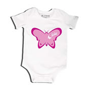 Butterfly - Bodysuit Personalised for Baby