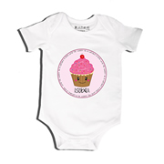 Cupcake - Bodysuit Personalised for Baby