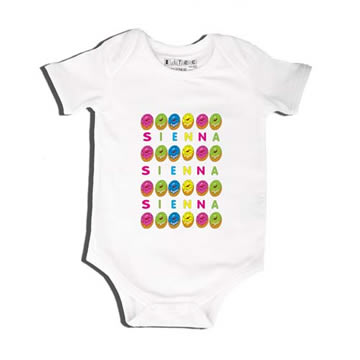 Doughnuts - Bodysuit Personalised for Baby