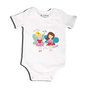 Fairy Best Friends - Bodysuit Personalised for Baby
