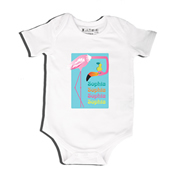 Flamingo - Bodysuit Personalised for Baby