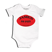 Football AFL - Bodysuit Personalised for Baby