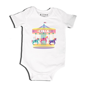 Geometric Carousel - Bodysuit Personalised for Baby
