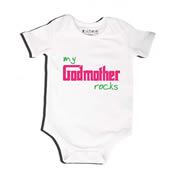 Godmother Rocks - Bodysuit Personalised for Baby