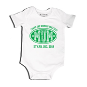 Green - Bodysuit Personalised for Baby