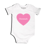 Heart - Bodysuit Personalised for Baby