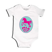 Horsey - Bodysuit Personalised for Baby