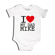 I Love - Bodysuit Personalised for Baby