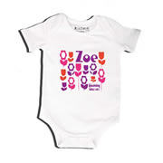 Just Blooming - Bodysuit Personalised for Baby