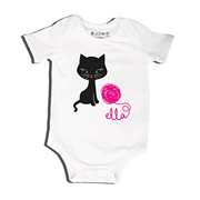 Kitty Cat - Bodysuit Personalised for Baby