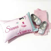 .Personalised Cushion for kids - Ballerina Girls Design